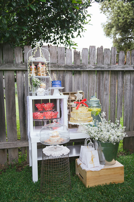 backyard wedding dessert display ideas