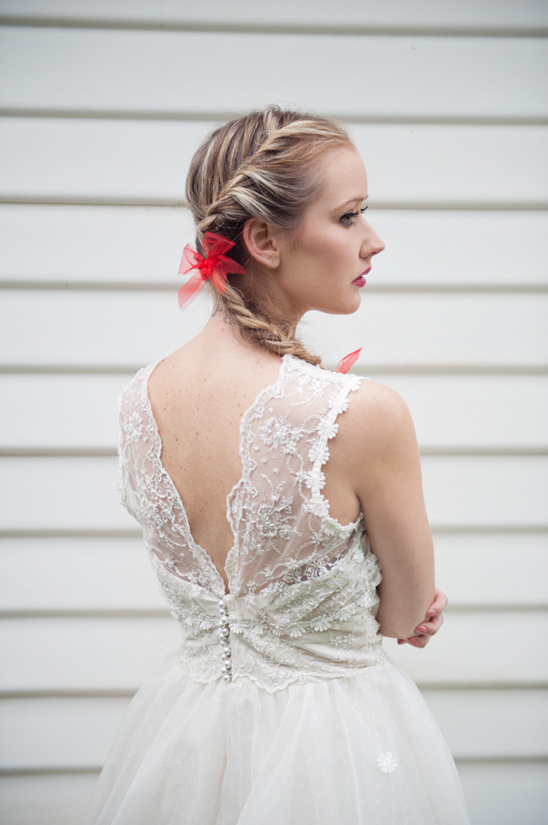 white lace dress from vellos bridal