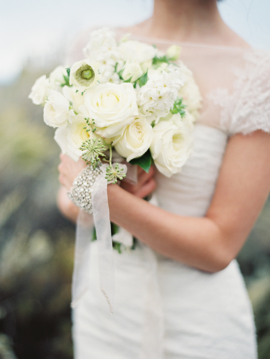white wedding bouquet by Holly Carlisle