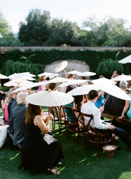 use umbrellas at the wedding ceremony