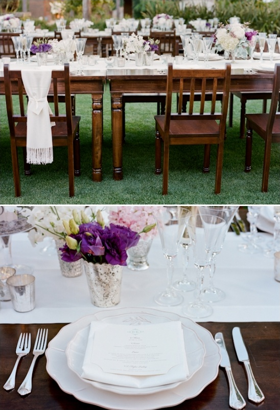 polished outdoor wedding reception