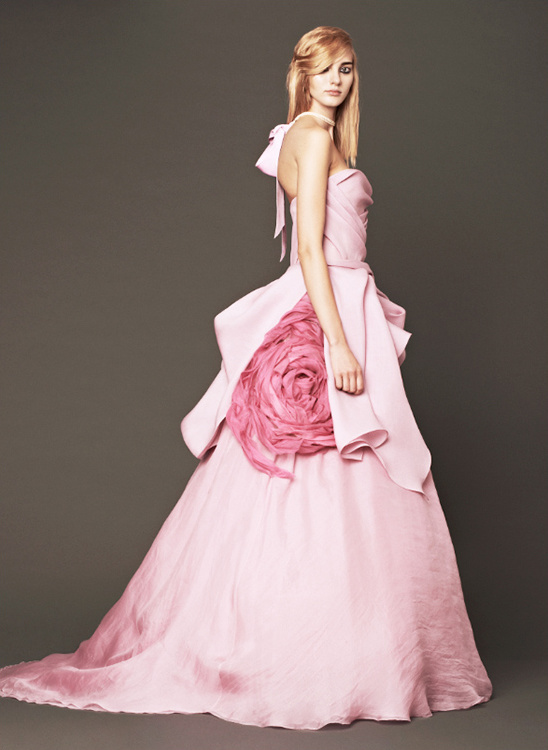 Vera Wang Pink Wedding Gowns
