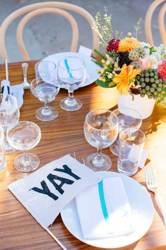 simple and fun table decor