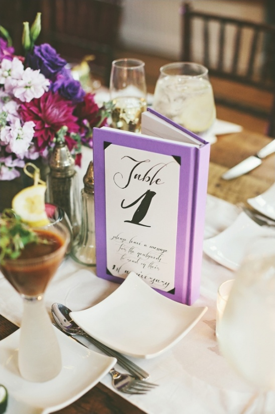 book table numbers