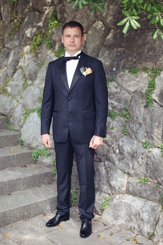 James Bond style groom