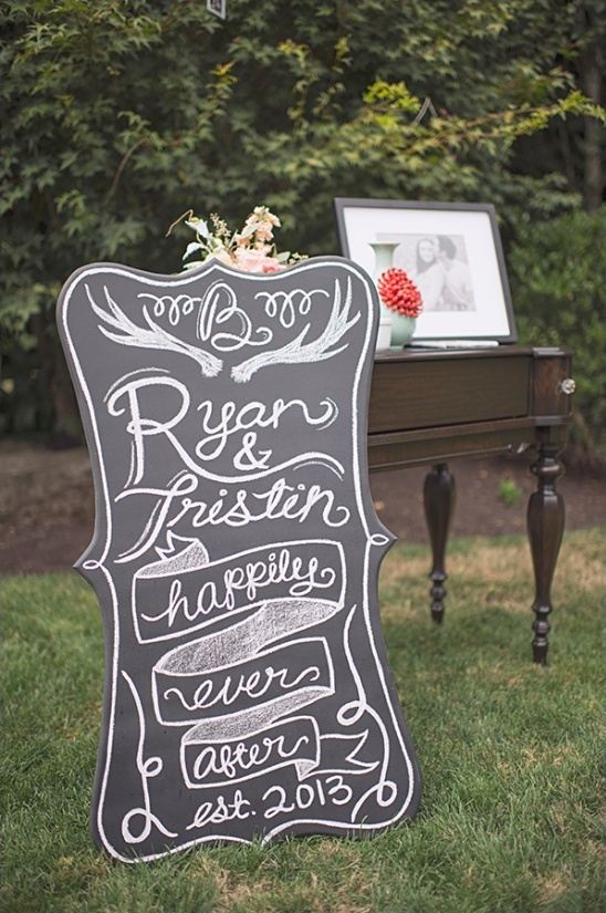 diy chalkboard wedding welcome sign