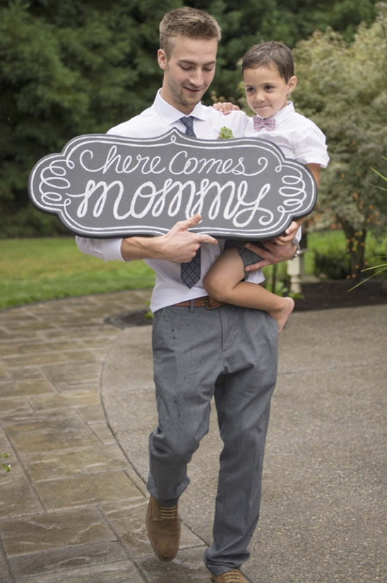 ring bearer chalkboard sign