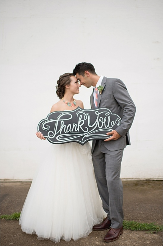 diy chalkboard thank you sign