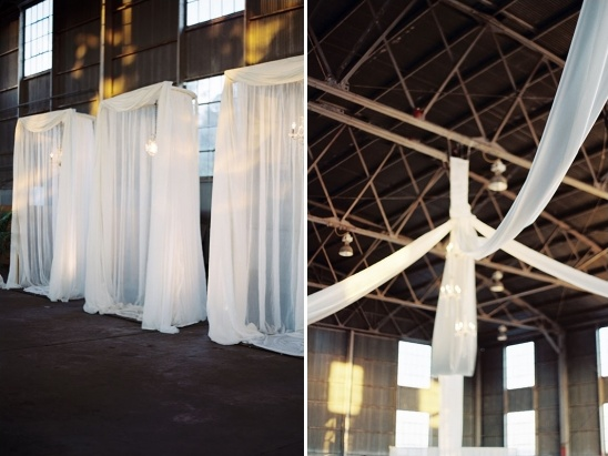 airplane hanger wedding reception