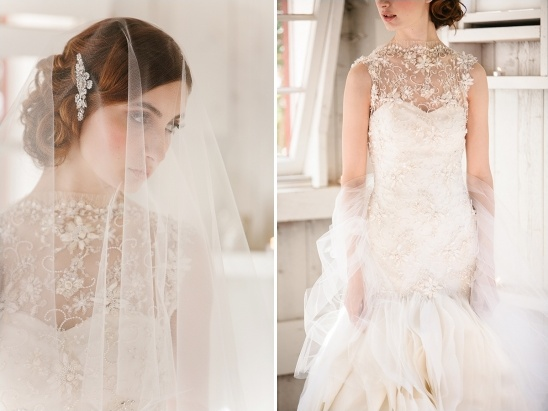 beaded wedding gown from Sareh Nouri