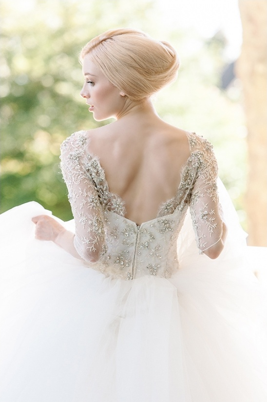 tulle wedding gown by Sareh Nouri