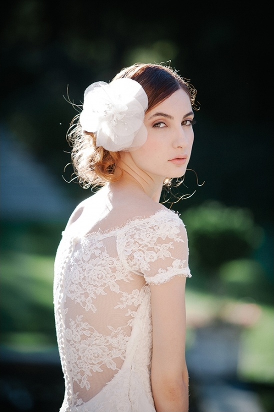 lace sleeved wedding gown