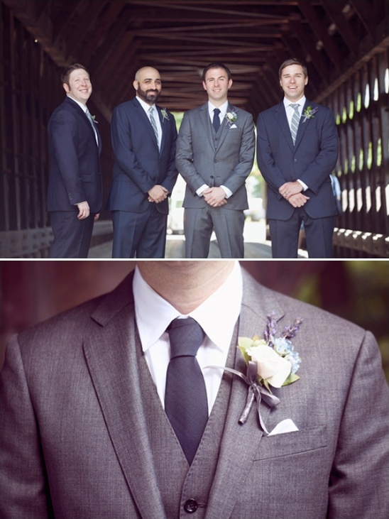 gray and navy groom look