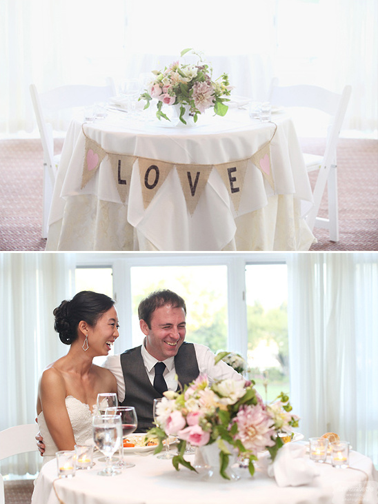 love sweetheart table sign