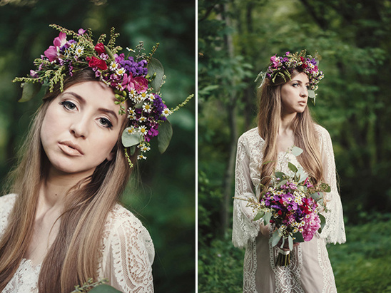 pink and purple floral halo
