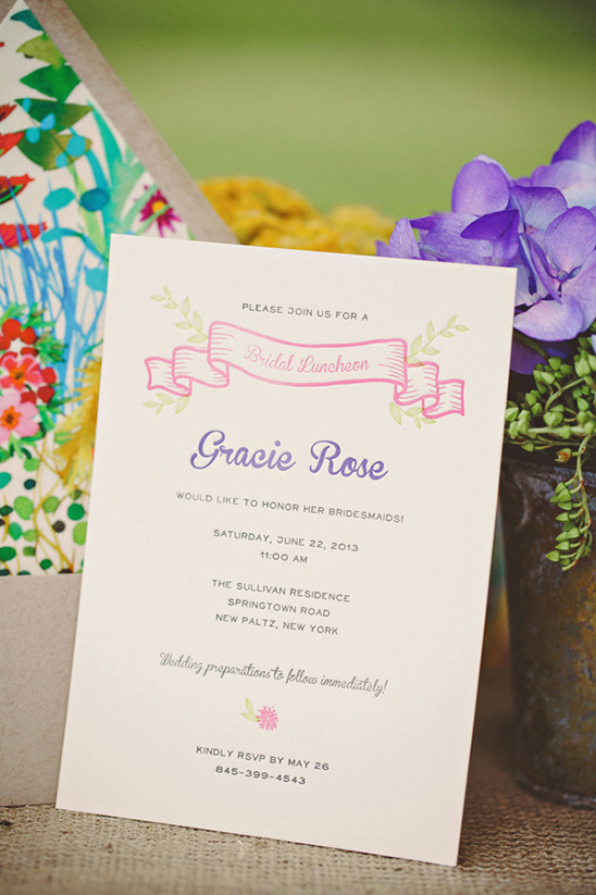 bridal shower invite by rafftruck designs