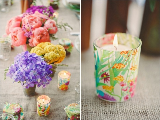 brightly colored bridal luncheon ideas