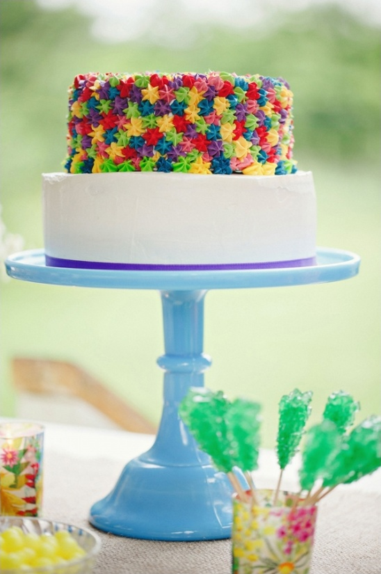 brightly colored cake by loven brooklyn