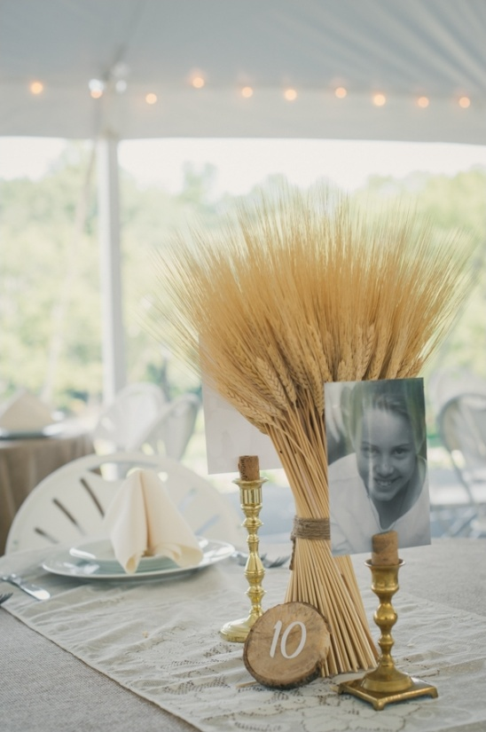 wheat table centerpieces