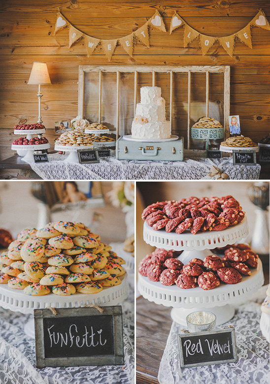 cookie and dessert table