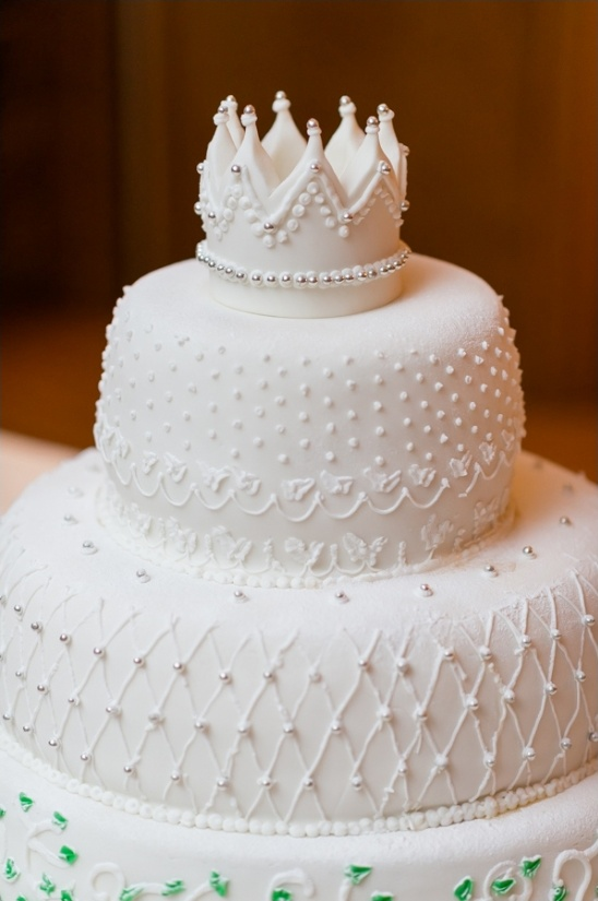 crown topper wedding cake