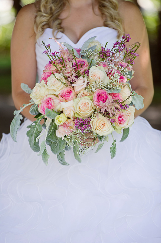 yellow and pink bridal bouquet