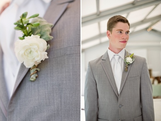 white and gray groom look