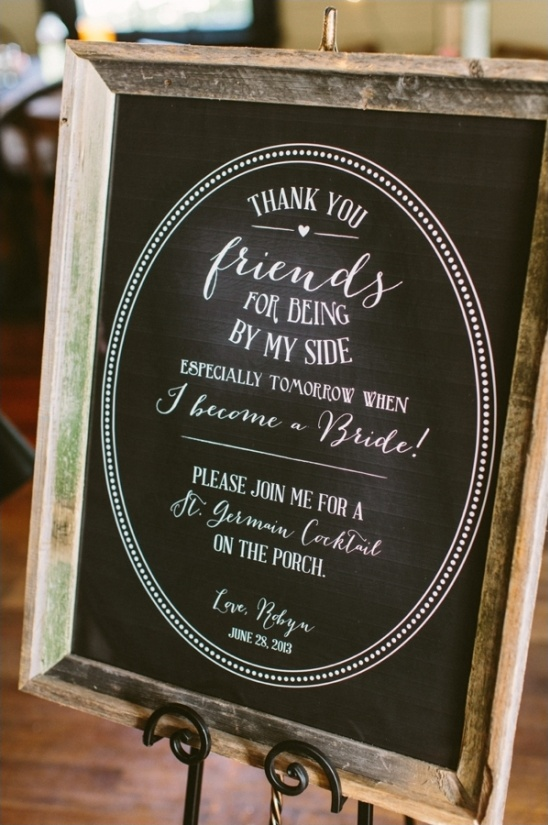 chalkboard welcome sign by lauren haddox design