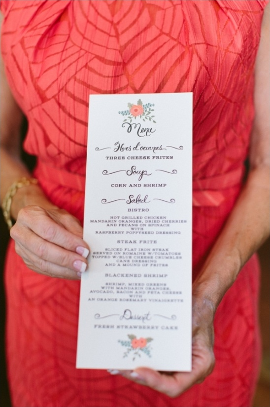 first snow bridal shower menu