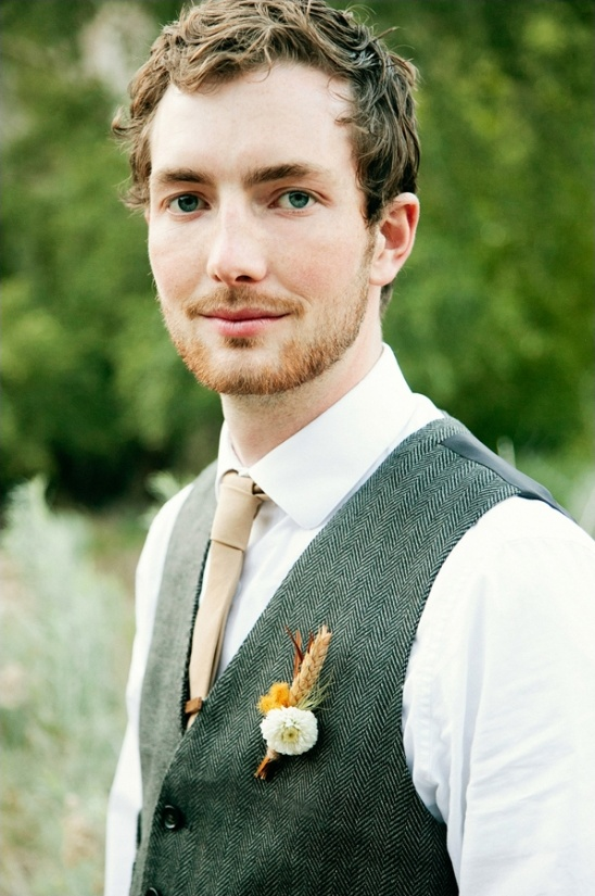 rustic looks for the groom