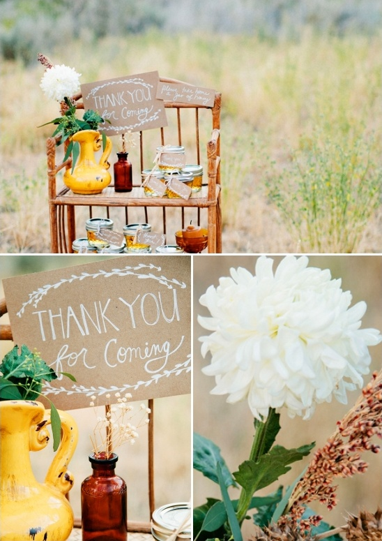 wedding favor display