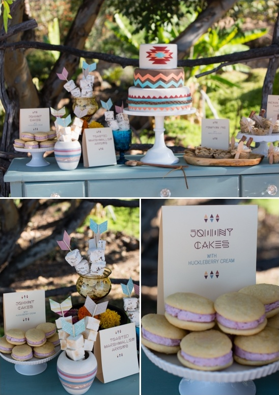 tribal dessert table