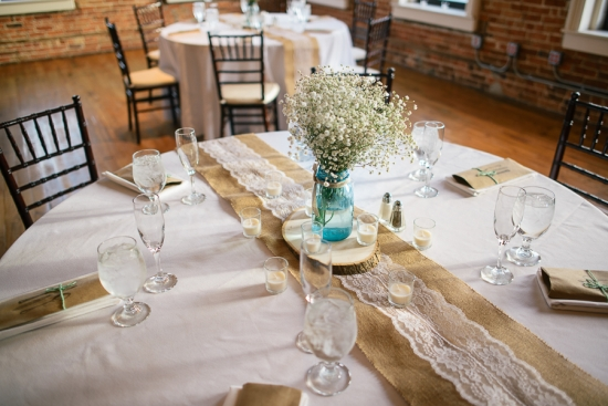 Table details for the wedding