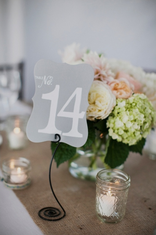funky table number stand