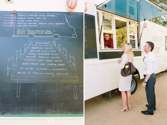 food truck at rehearsal dinner