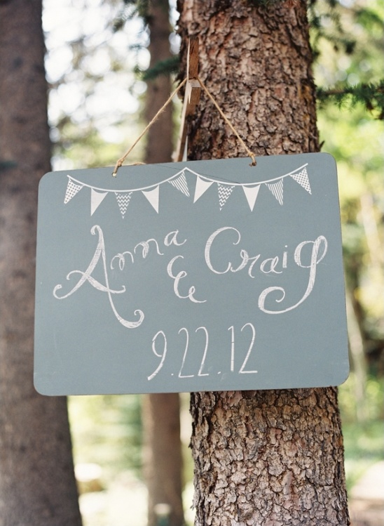 simple wedding sign