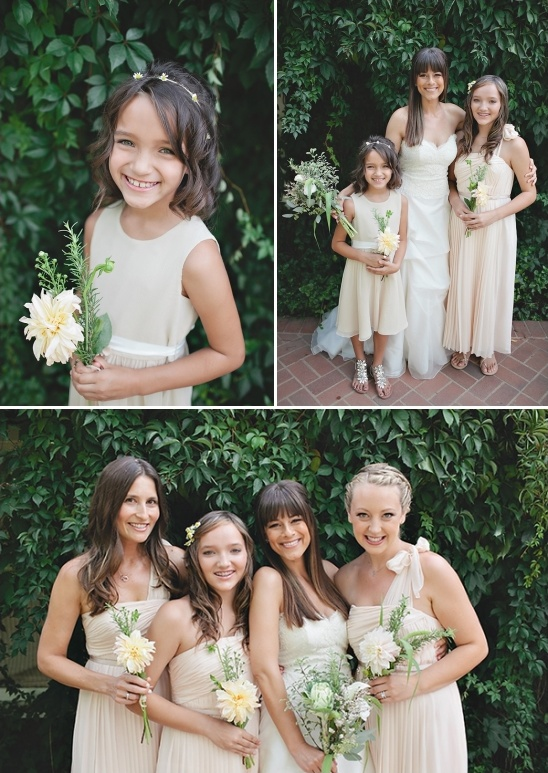beige bridal party