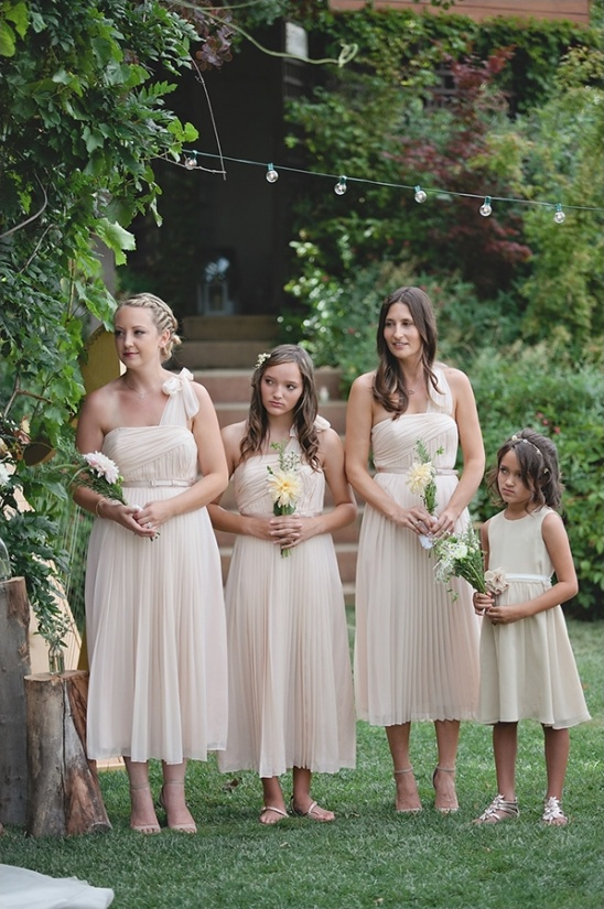 bridesmaid dresses in cream