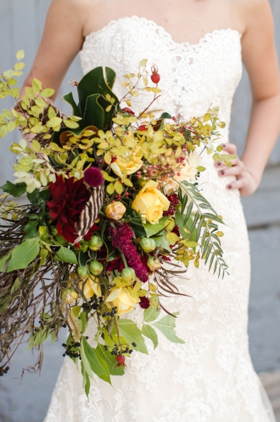 loose fall wedding bouquet from Three Leaf Floral