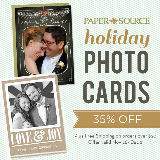 sale on paper-source holiday photo cards