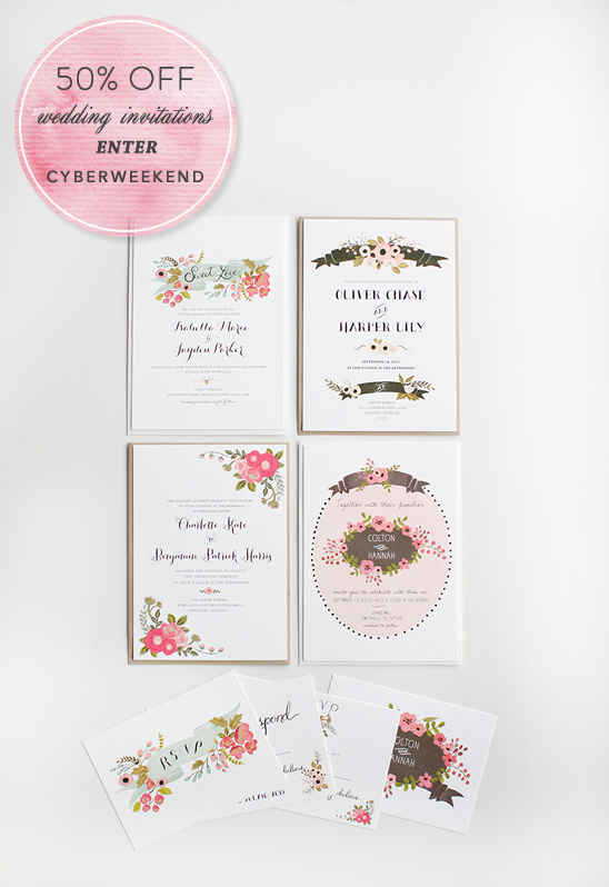 wedding invites on sale