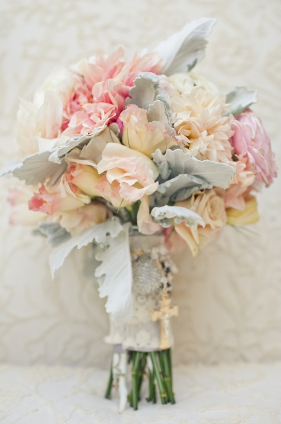 pastel wedding bouquet by knot just flowers