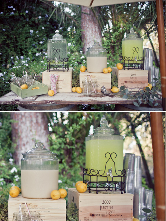 lemonade wedding stand