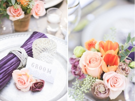 purple and peach wedding ideas