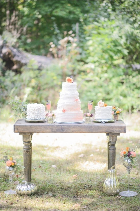 Peach Dessert Table Ideas Wedding Cocktail