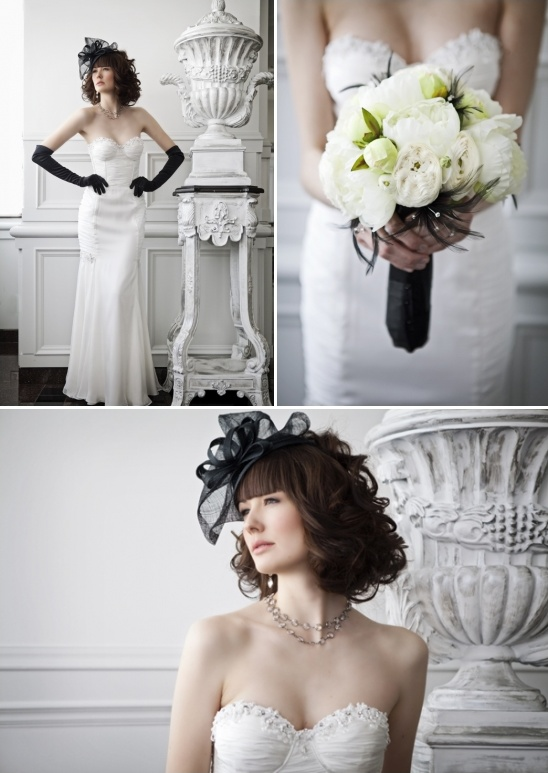 black and white wedding idea