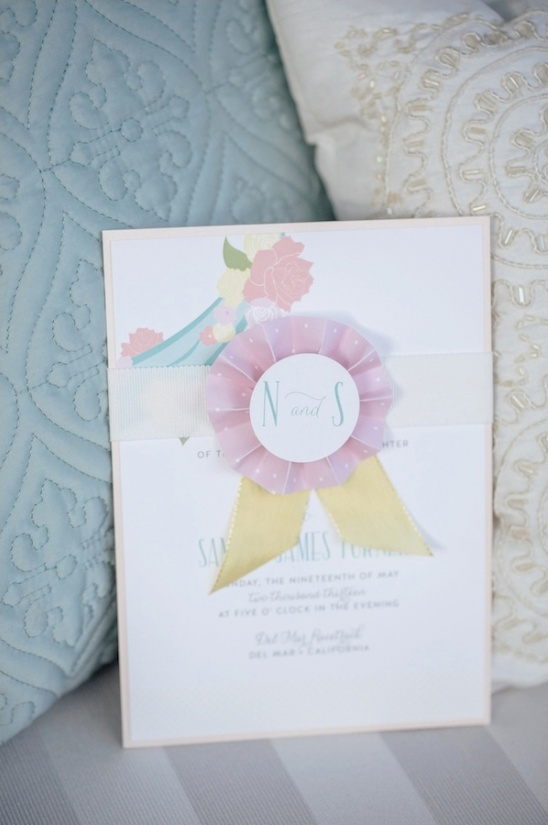 ribbon wedding invite