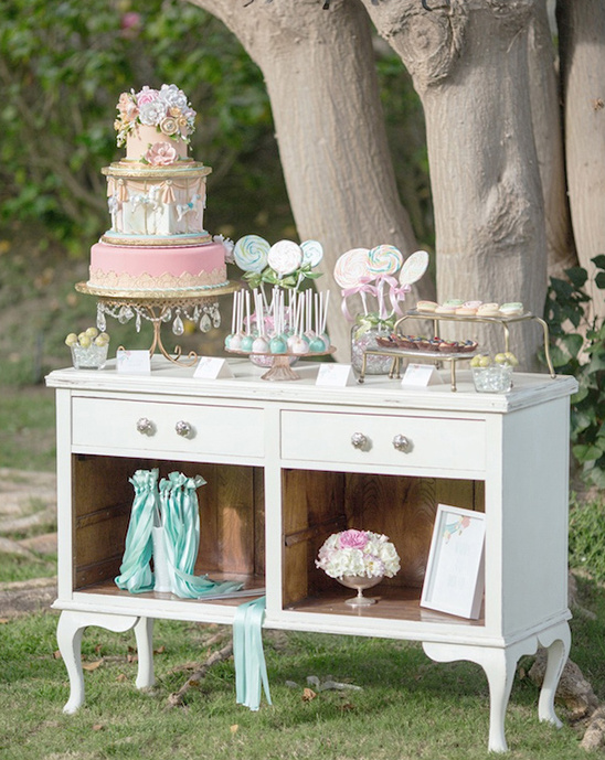 whimsical dessert table