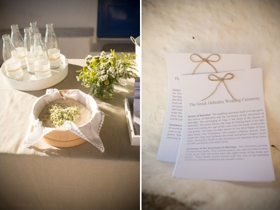 wedding program table