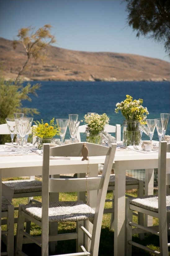 Greece seaside wedding
